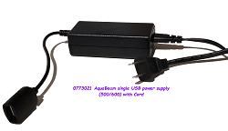 AquaBeam Single USB power supply with cord