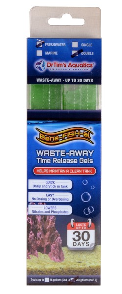 Waste-Away Gel Freshwater Large (Treats up to 150 gal) 2-pack